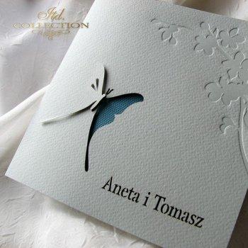 Einladungskarten / Hochzeitskarte 1724_18_türkis