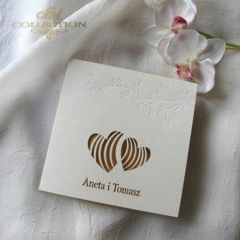Einladungskarten / Hochzeitskarte 1723_37_gelb