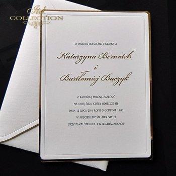 Einladungskarten / Hochzeitskarte 1748_Gold