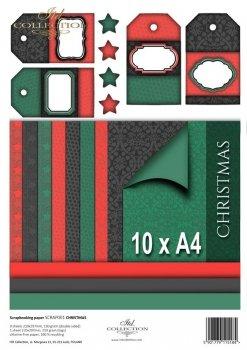 Set von Papieren für Scrapbooking SCRAP-001 ''Weihnachten''