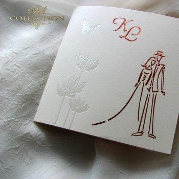 Einladungskarten / Hochzeitskarte 1726_24_Gerbera