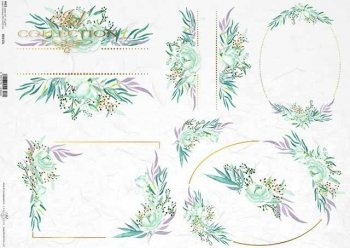 Reispapier A3 für Decoupage R0313L