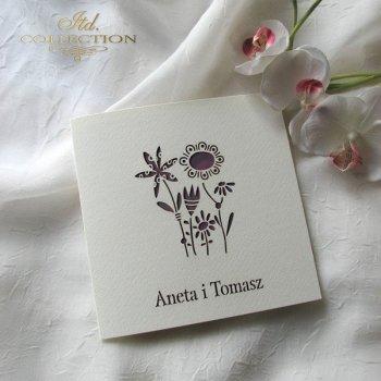 Einladungskarten / Hochzeitskarte 1732_56_weinrote