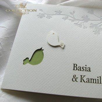 Einladungskarten / Hochzeitskarte 1723_15_grün