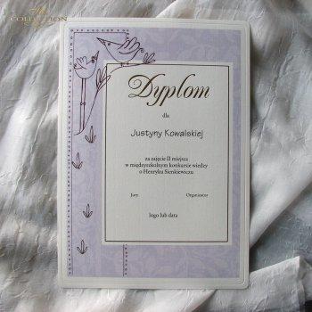 Diplom DS0500 mit goldenen Buchstaben