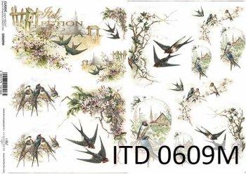 Papier für Serviettentechnik und Decoupage D0609M