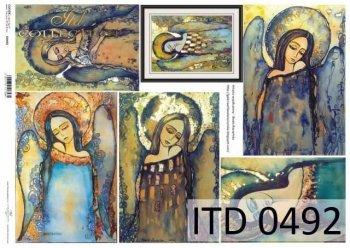 Decoupage paper ITD D0492
