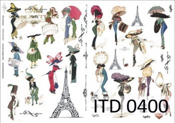 Decoupage paper ITD D0400M