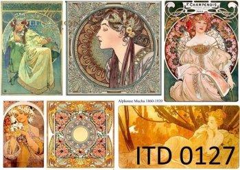 Decoupage Paper ITD D0127