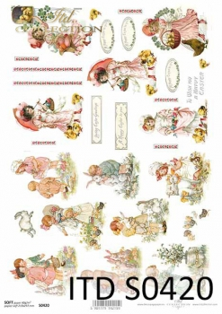 Decoupage paper Soft ITD S0420