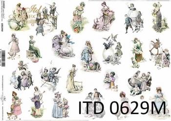 Decoupage paper ITD D0629M