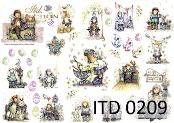 Decoupage paper ITD D0209M