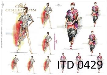 Decoupage paper ITD D0429M