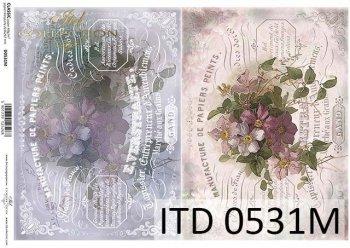 Decoupage paper ITD D0531M
