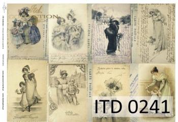 Decoupage paper ITD D0241M