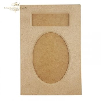 HDF024 Oval board, frame, signboard-Frame 30 cm x 20 cm with MDF. Two-part, for decoupage. Milled.