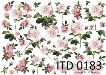 Decoupage paper ITD D0183