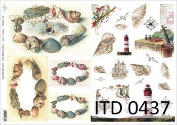 Decoupage paper ITD D0437M