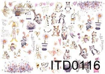 Decoupage paper ITD D0116M