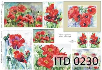 Decoupage paper ITD D0230