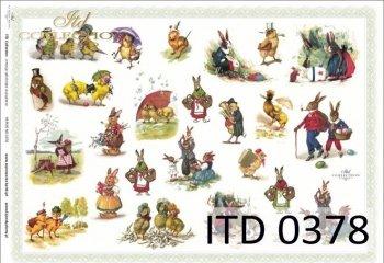 Decoupage paper ITD D0378