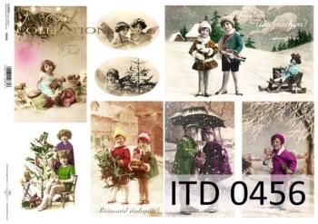 Decoupage paper ITD D0456M