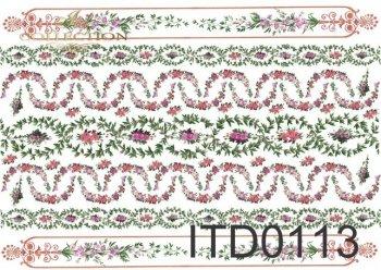 Decoupage paper ITD D0113