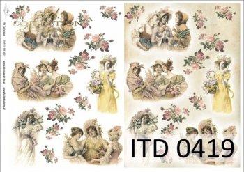 Decoupage paper ITD D0419M
