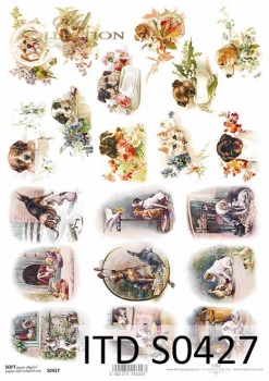 Decoupage paper Soft ITD S0427