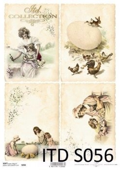 Decoupage paper Soft ITD S0056