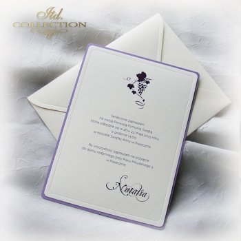 Holy Communion Invitation 1748_ vine_violet