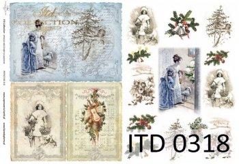 Decoupage paper ITD D0318