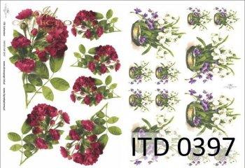 Decoupage paper ITD D0397