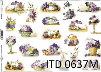 Decoupage paper ITD D0637M