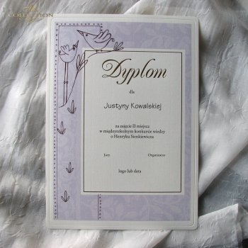 Diploma DS0500 with gold letters