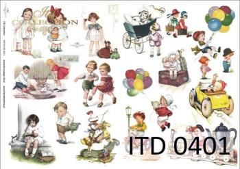 Decoupage paper ITD D0401