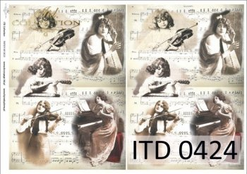 Decoupage paper ITD D0424
