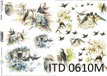 Decoupage paper ITD D0610M