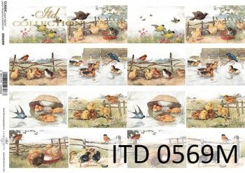 Decoupage paper ITD D0569M