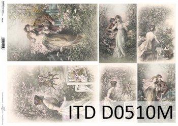Decoupage paper ITD D0510M