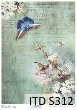 Decoupage paper Soft ITD S0312