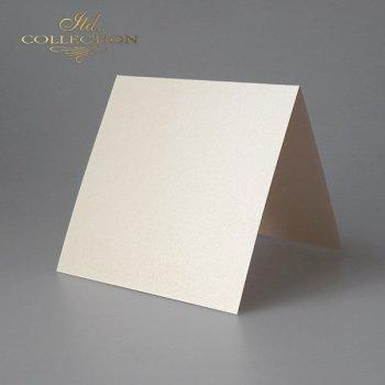 Card Base BDK-027 * iridescent cream colour