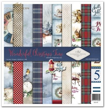 Scrapbooking papers SLS-018 ''Wonderful Christmas Time''