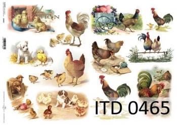 Decoupage paper ITD D0465M