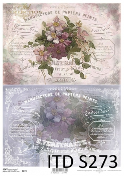 Decoupage paper Soft ITD S0273