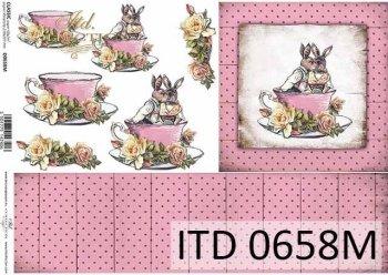 Decoupage paper ITD D0658M
