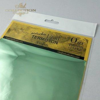 metallic foil Termoton * pistachio