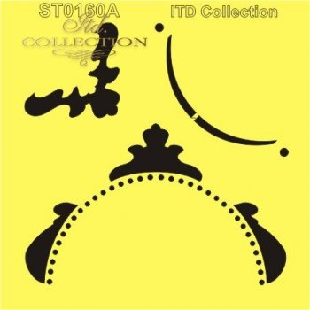 .Stencil scrapbooking decoupage 16x16 cm ST0160A