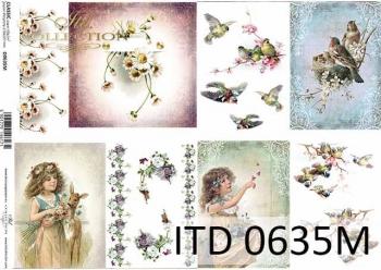 Decoupage paper ITD D0635M