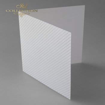 Card Base BDK-017 *  natural white colour, squares